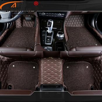 AutoDecorun Customized Car Mats For Chrysler 300C Car Floor Mat 3D PVC Leather Auto feet Carpet Car-Styling Interior Accessories