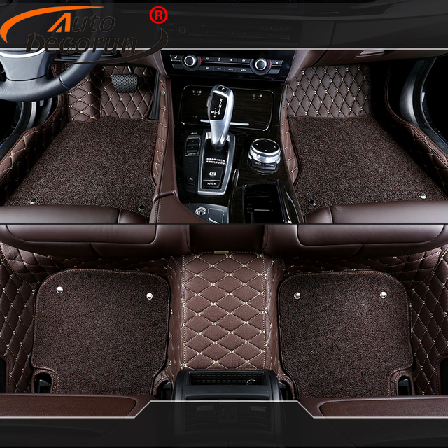 Autodecorun Customized Car Mats For Chrysler 300c Car Floor Mat 3d Pvc Leather Auto Feet Carpet