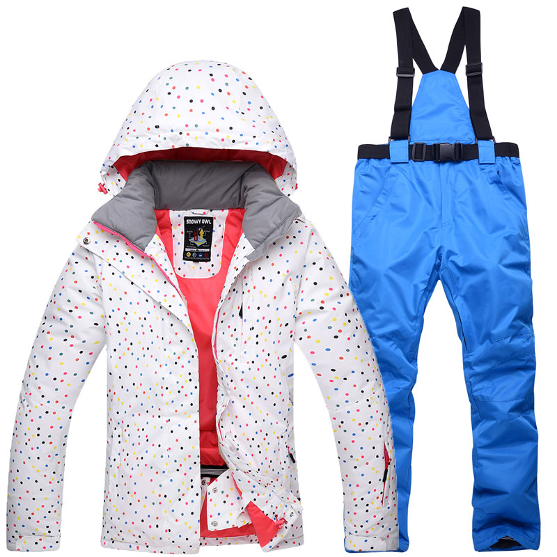 2017 high quality winter ski suit suit female jacket jacket + pants ski jacket waterproof breathable jacket free shipping
