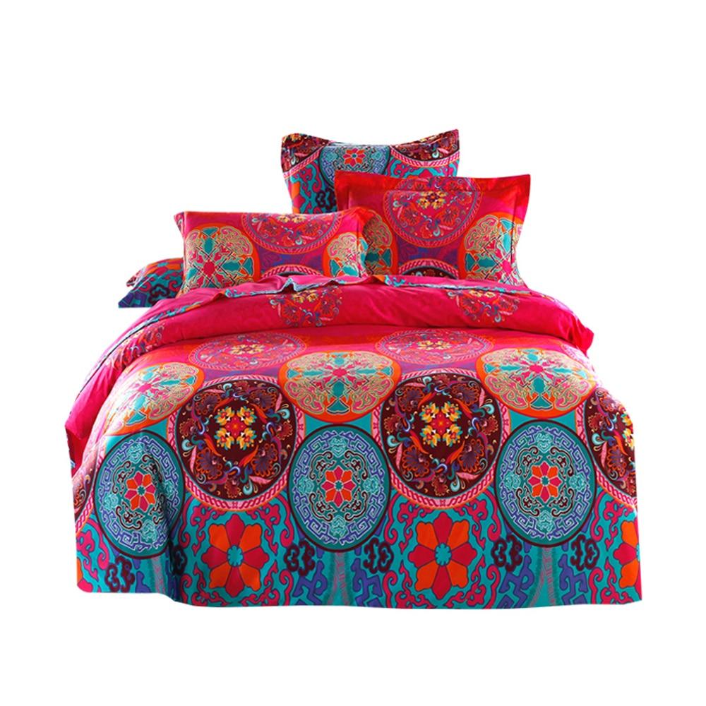 Cotton Satin Bohemian Exotic Bedding Set National Style