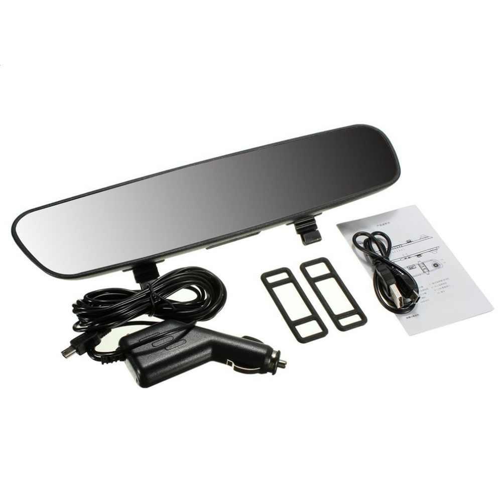 2.7-Polegada LCD Full HD 1080P Traço Cam Gravador De Vídeo Da Câmera Do Carro Espelho Retrovisor Do Veículo DVR Da Visão Nocturna camcorder