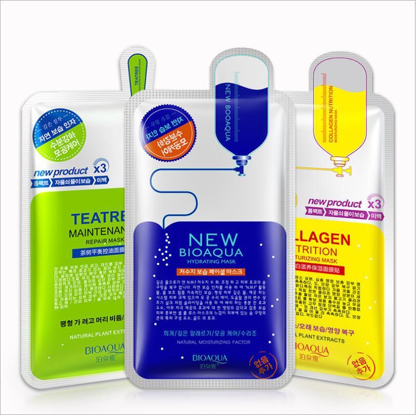 10 יח'\חבילה BIOAQUA מאגר חומצה היאלורונית מסיכת הפנים מסכת מסכה לפנים לחות מזין את עור טיפול יופי איפור קוריאה