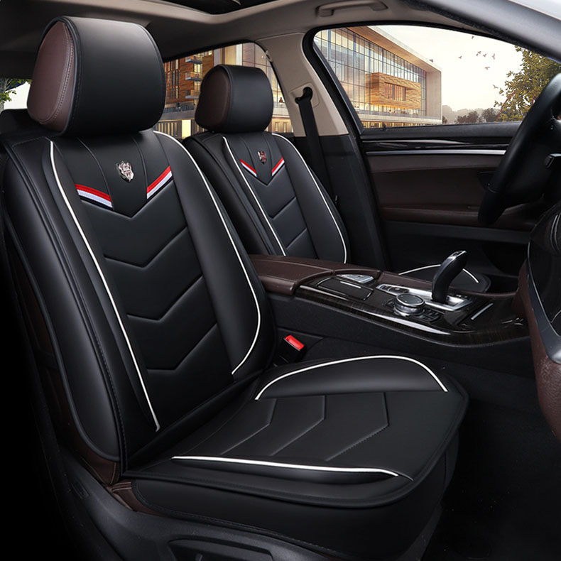 leather Universal Car Seat Covers for bmw e36 f10 e30 citroen c5 mitsubishi asx mercedes w203 w204 auto accessories car styling