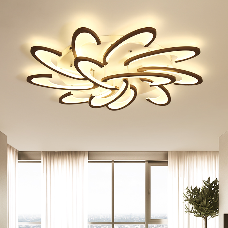 Acrylic Design Modern Ceiling Lights Bedroom Living Room 90~260V White Ceiling Lamp LED Home Lighting Light Fixtures plafonnier цена