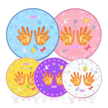 Baby Handprint Footprint Diy Newborn Infant Creative Gift Bebek Souvenir Non-Toxic Clay Toy Inkpad For Babe One Set(China)
