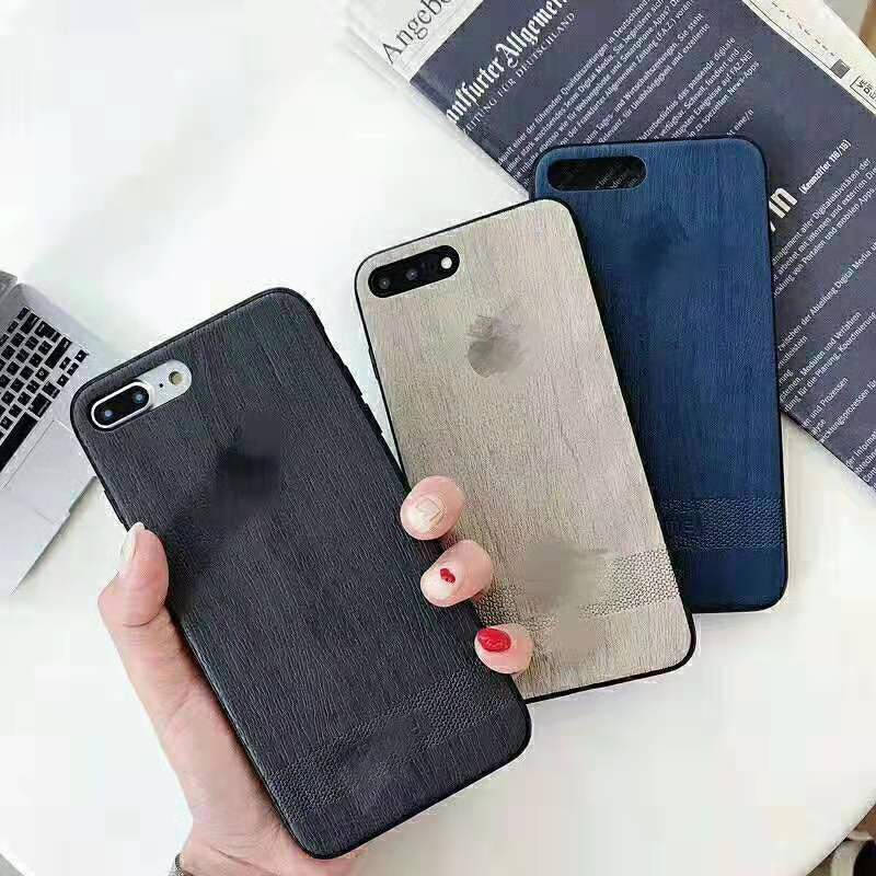 Explosion Wood Grain For Iphone 6 6s 7 8P X Xs Xr Ma Simple Explosion Wood Grain Business Phone Case in Fitted Cases from Cellphones Telecommunications