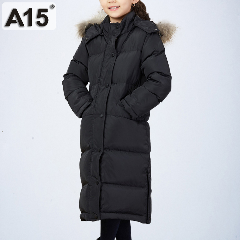 Winter Jacket for Girls Kid Long Warm Fur Hooded Winter Jacket Girls Coat Teenagers Children Girls Parka Down Coat 10 12 14 Year winter girl jacket children parka winter coat duck long thick big fur hooded kids winter jacket girls outerwear for cold 30 c