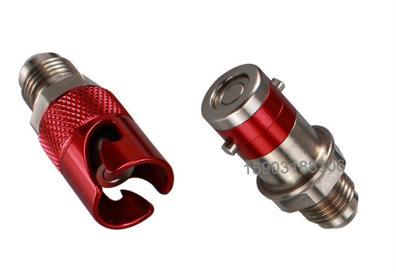 Image 4 - 3AN Titanium Quick Release Disconnect Dry Brake Coupling Hose Adapter RED or BLACKOil Coolers