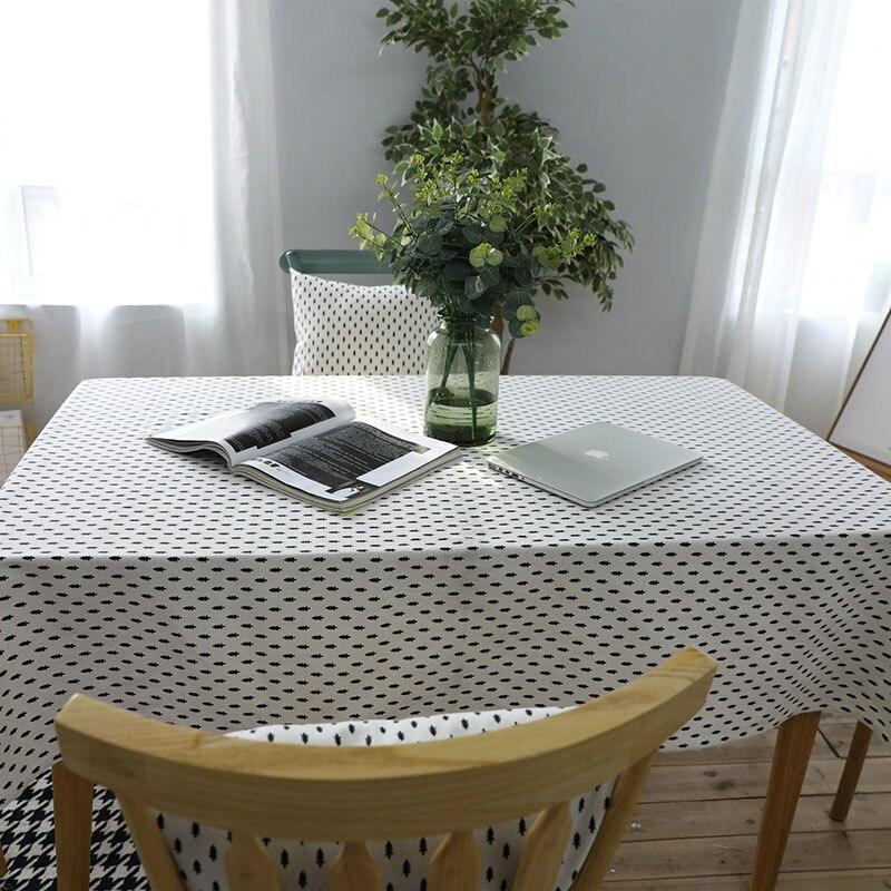 Mantelería de lino Mantelería de estilo nórdico norte estampado - Textiles para el hogar - foto 3