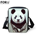 FORUDESIGNS Women Messenger Bags 2016 Cute Animal Panda Dog Pattern Men Crossbody Bag Baby Kids Small Mochila Kindergarten Bags