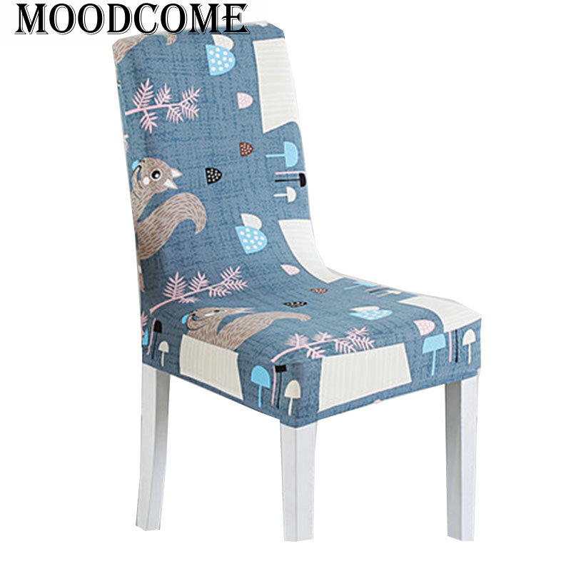 squirrel printing elastic cover for the chair new arrival stoel cover cheap dining room chair cover