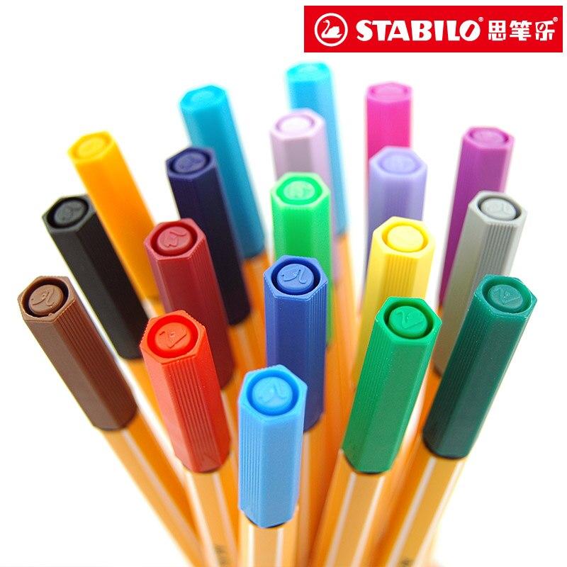 Image 3 - 25pcs STABILO Point 88 Fineliner Fiber Pen Art Marker 0.4mm Felt Tip Sketching Anime Artist Illustration Technical Drawing PensArt Markers   -