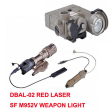 SF M952V Hunting Flashlight IR Laser Led Torch DBAL-D2 Softair Double Control Switch Tactical Weapon Lights