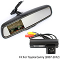 Rearview Vehicle Camera Car Rear Camera For Toyota Camry 2007 2008 2009 2010 2011 2012 With Car Rear View Holder Mirror Monitor