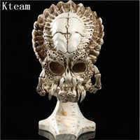 トップ品質樹脂 1:1 樹脂プレデター対エイリアンスカルの装飾プレデター頭蓋骨コレクションためハロウィンクリスマスプレゼントのおもち