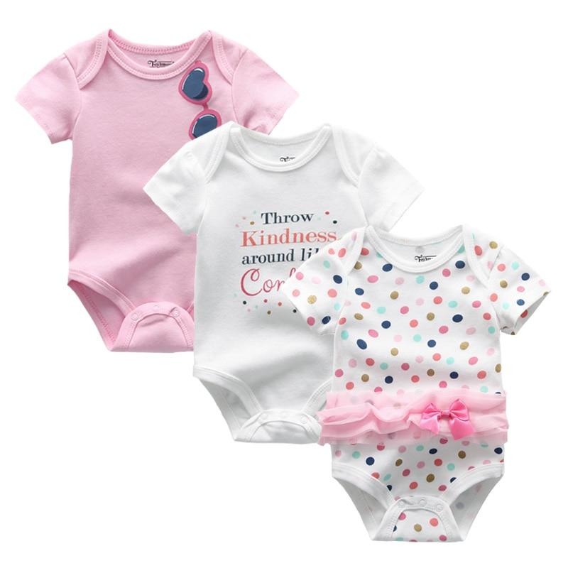 2021 3PCS/Lot Baby Boy Clothes BodysuIts Baby Girl Clothes Unicorn Girls Clothing Unisex 0-12M Baby Bodysuits Roupas de bebe 3