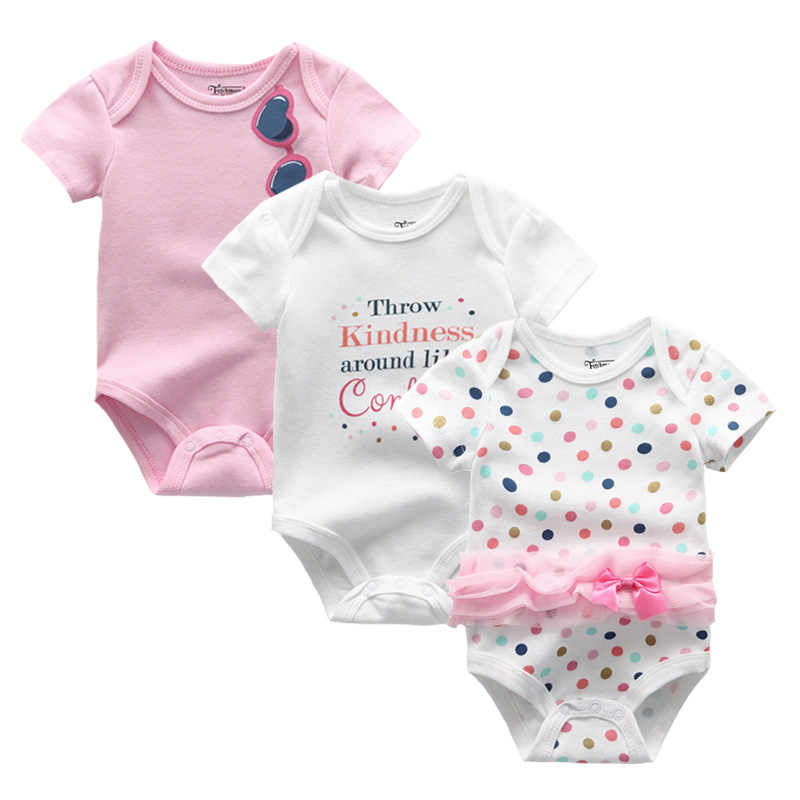 2019 3PCS/Lot Baby Boy Clothes Bodysuots Baby Girl Clothes Unicorn Girls Clothing Unisex 0-12M Baby Bodysuits Roupas de bebe