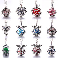 New Diffuser jewelry perfume cages Necklace Vintage Heart Necklaces Aromatherapy Essential Oil Pregnant Women Pendant necklace(China)