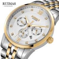 Ruimas 2019 비즈니스 시계 남성 자동 발광 시계 남성 뚜르 비옹 방수 기계식 시계 브랜드 relogio masculino