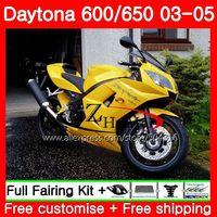 Body For Triumph Daytona 650 600 02 03 04 05 Daytona600 86SH16 Daytona650 Daytona 600 2002 2003 2004 2005 Fairings Blue yellow