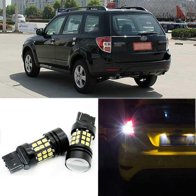 2pcs High Quality Superb Error Free 5050 SMD 360 Degrees LED Backup Reverse light Bulbs T20 For SubaruForester 2009-2012