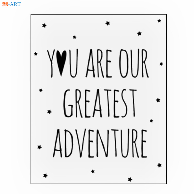 US $3.94 18% OFF|Cartoon Panda Rabbit Posters and Prints Quotes Canvas  Painting Simple Cute Nursery Wall Art Kids Bedroom Decorative Picture-in ...