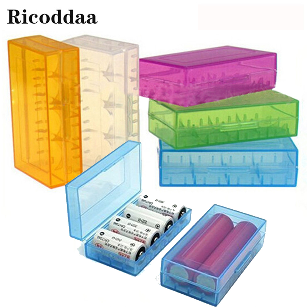 18650 <font><b>Battery</b></font> <font><b>Case</b></font> Plastic Protective <font><b>Battery</b></font> Storage Boxes Holder For 18350 CR123A <font><b>18500</b></font> <font><b>Battery</b></font> Accessories image