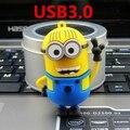 La nueva unidad flash USB3.0 manos una pequeña de color amarillo, 8G. 16G. 32G. 64G despicable Me USB, exquisito memory stick envío gratis