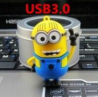 O novo flash drive USB3.0 mãos um pequeno amarelo, 8G. 16G. 32G. 64G desprezível Me USB, requintado memory stick frete grátis