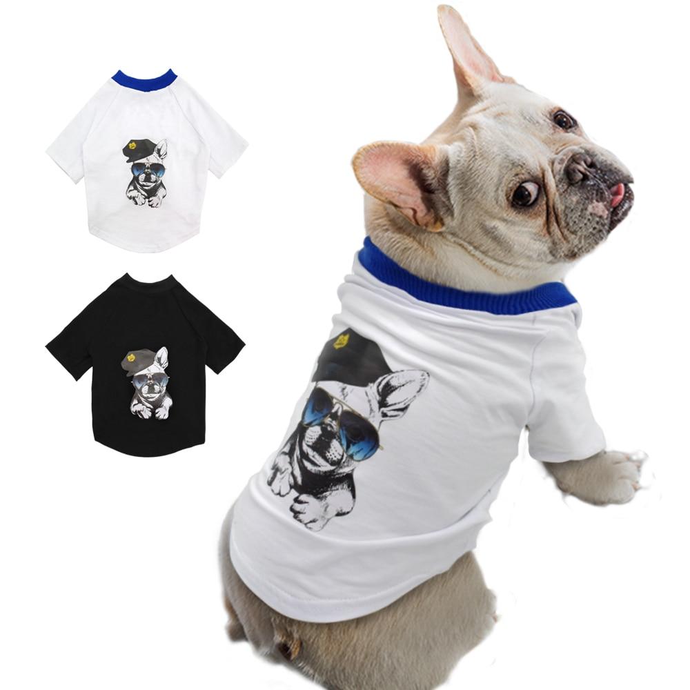 Summer Dog T Shirt Dogs Clothes Small Medium Dogs Cat Clothing Vest Cotton Pet T Shirt Apparel Bulldog Clothes M-2XL