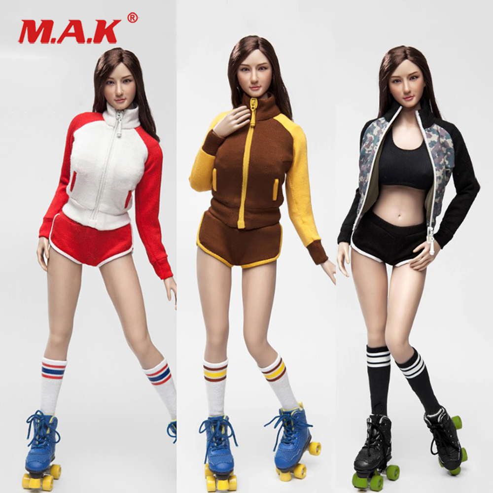 FGC2017-39 40 41 1/6 Scale Sexy Female clothes Roller Girl head and Clothing set For 12