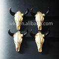 WT-P289 Exclusive resin cattle horn pendants, beautiful buffalo horn pendants black gun electroplated resin cattle head pendant