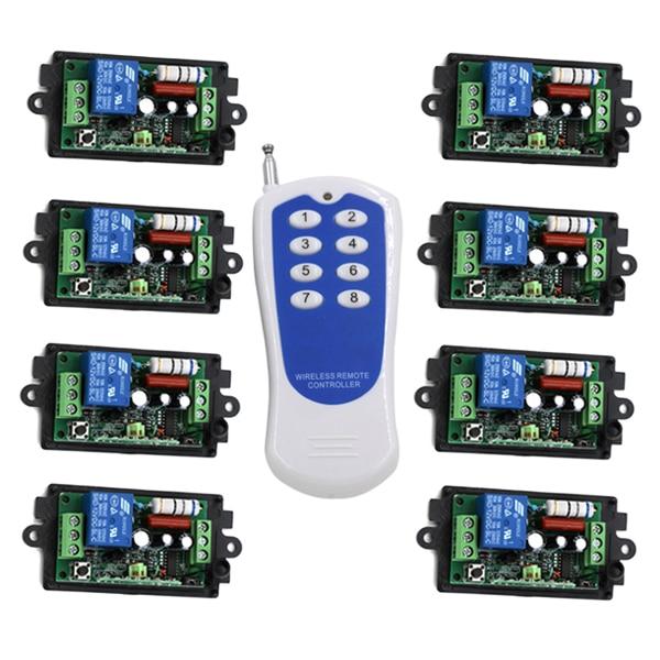 433 mhz rf 1 trasmettitore e 8 ricevitore 110 V 220 v con il codice, 1 KM Gamma A Lunga Distanza RF Interruttore Personalizzabile SKU: 5180433 mhz rf 1 trasmettitore e 8 ricevitore 110 V 220 v con il codice, 1 KM Gamma A Lunga Distanza RF Interruttore Personalizzabile SKU: 5180