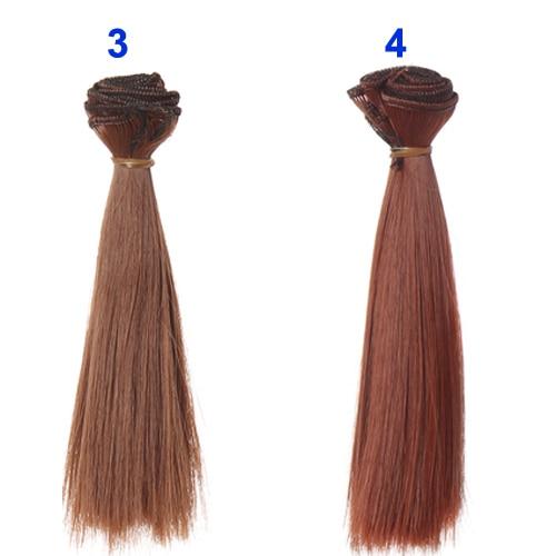 1pcs-hair-refires-bjd-hair-15cm100CM-black-gold-brown-khaki-white-grey-color-short-straight-wig-hair-for-13-14-BJD-diy-3