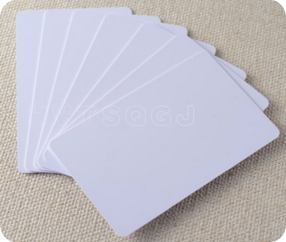 300 Blank Printable PVC Plastic Photo id White Credit Card 30Mil CR80 free shipping