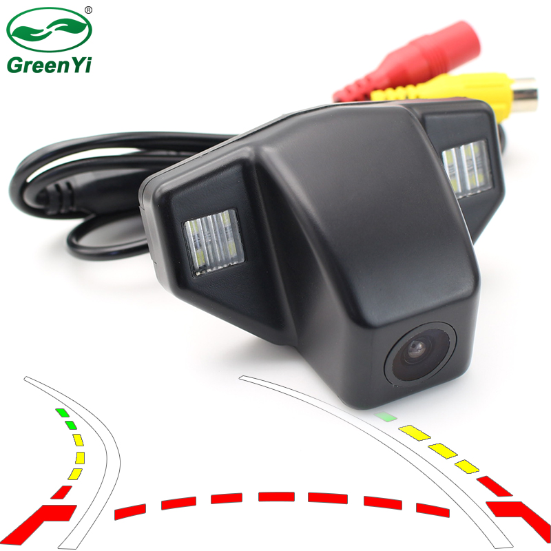 Car Dynamic Trajectory Reverse Backup Rear View Camera For Honda Accord CRV CR-V Fit Odyssey Vehicle Tracks Parking Camera