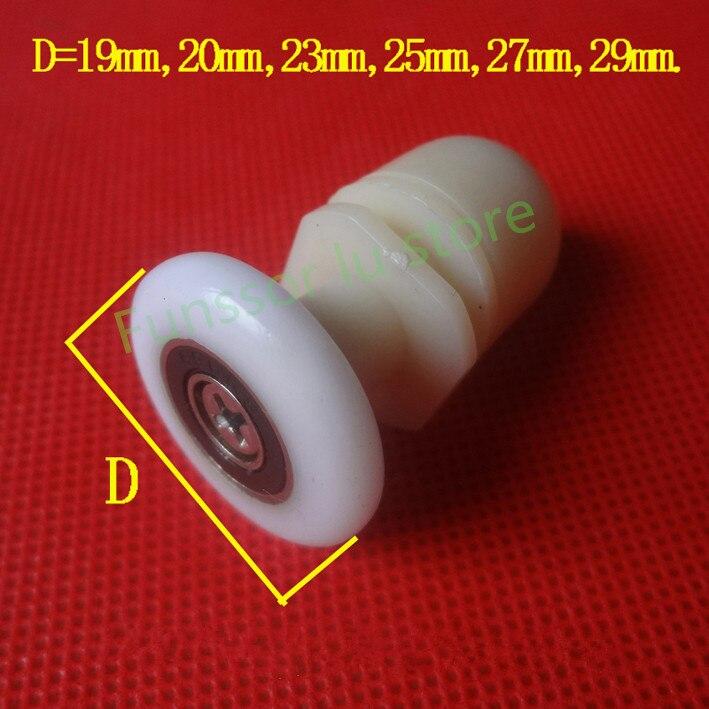4 rodillos de acero inoxidable para puerta de ducha//corredores//ruedas//poleas de 20 mm de di/ámetro de la rueda