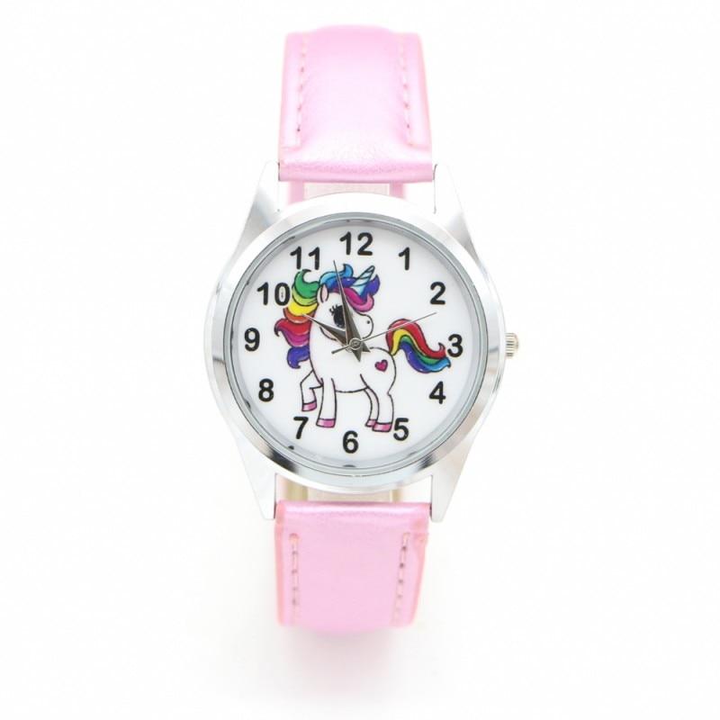 New Fashion Unicorn Desgin Kids Cartoon Dress Watches Quartz Childrens Boy Girl Students Wristwatch Relogio Kol Saati Clock