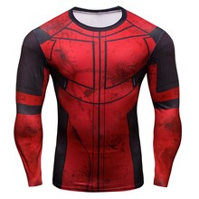 Iron Man Trainning Exercise T-shirts 3D Prints Men Wear Fitness Compression Elastic Breathable Plus Size Quick-Dry Tights Shirts