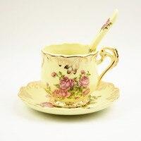 뜨거운 영어 스타일 오후 차 세트 유럽 커피 컵 접시 정장 하이 엔드 창조적 궁전 고대 커피 컵 세라