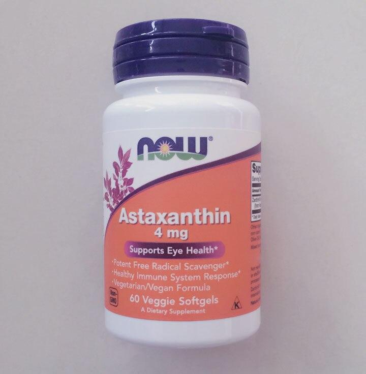 Now Astaxanthin 4 mg 60 pcs superior quality pure astaxanthin 1