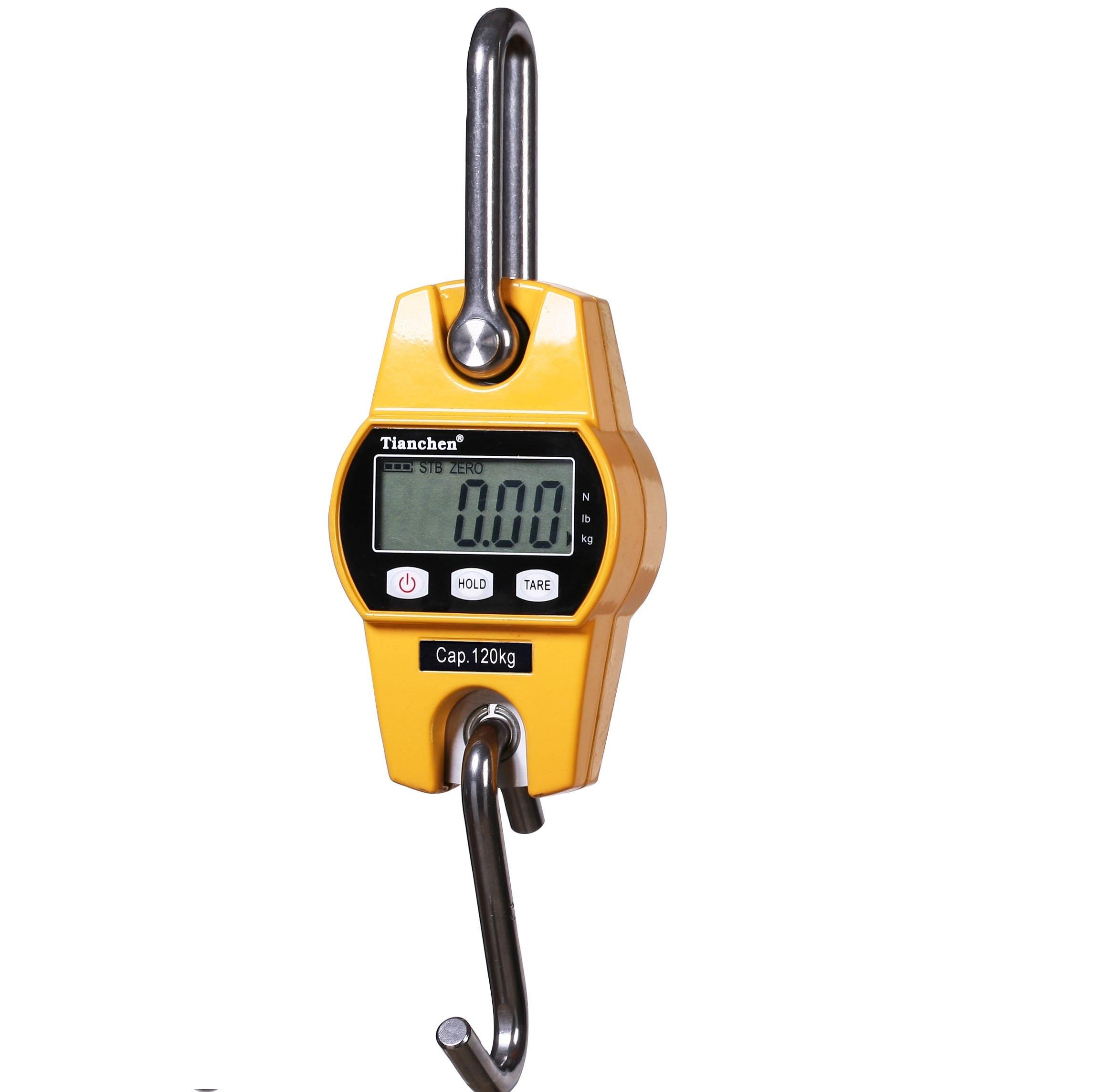 Nouveau 300 kg Mini Balance de grue Portable LCD numérique électronique en acier inoxydable crochet suspendu poids grue balances Balance de pesage