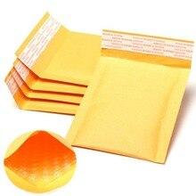Venta al por mayor, 100 unidades/lote, fabricante, bolsas de burbuja Kraft, sobres acolchados, bolsas de correo de papel, 11x13cm