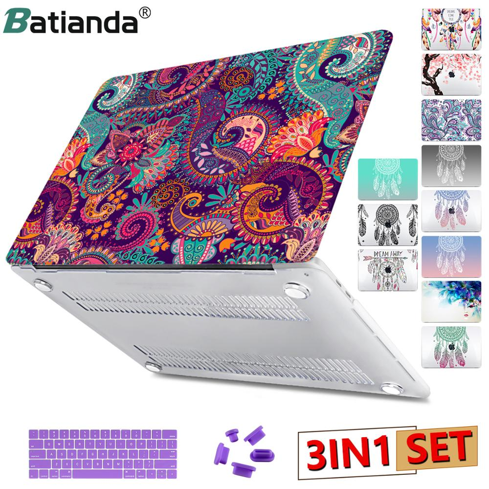Gradent Green Dream Catcher Laptop Case For Apple Macbook Pro Retina 12 13 New Air 11 13 With Retina Touch Bar ID A1466 A1932