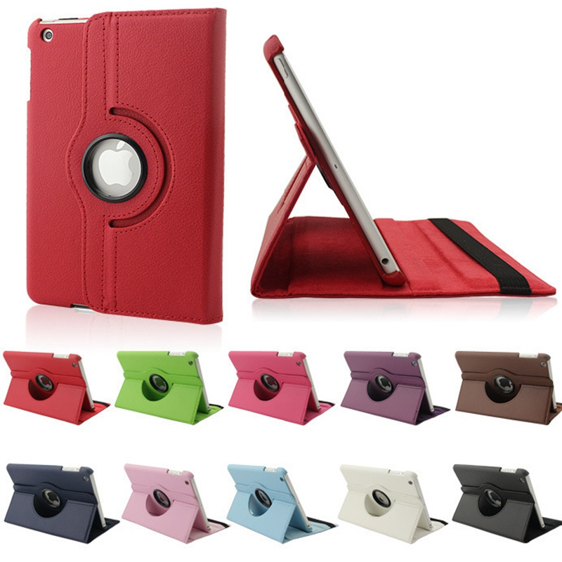 For Apple iPad Air ( A1474 A1475 <font><b>A1476</b></font> ) Flip PU Leather Rotating Stand Sleep Wakup Smart Cover Case for iPad 5 / Air1 image