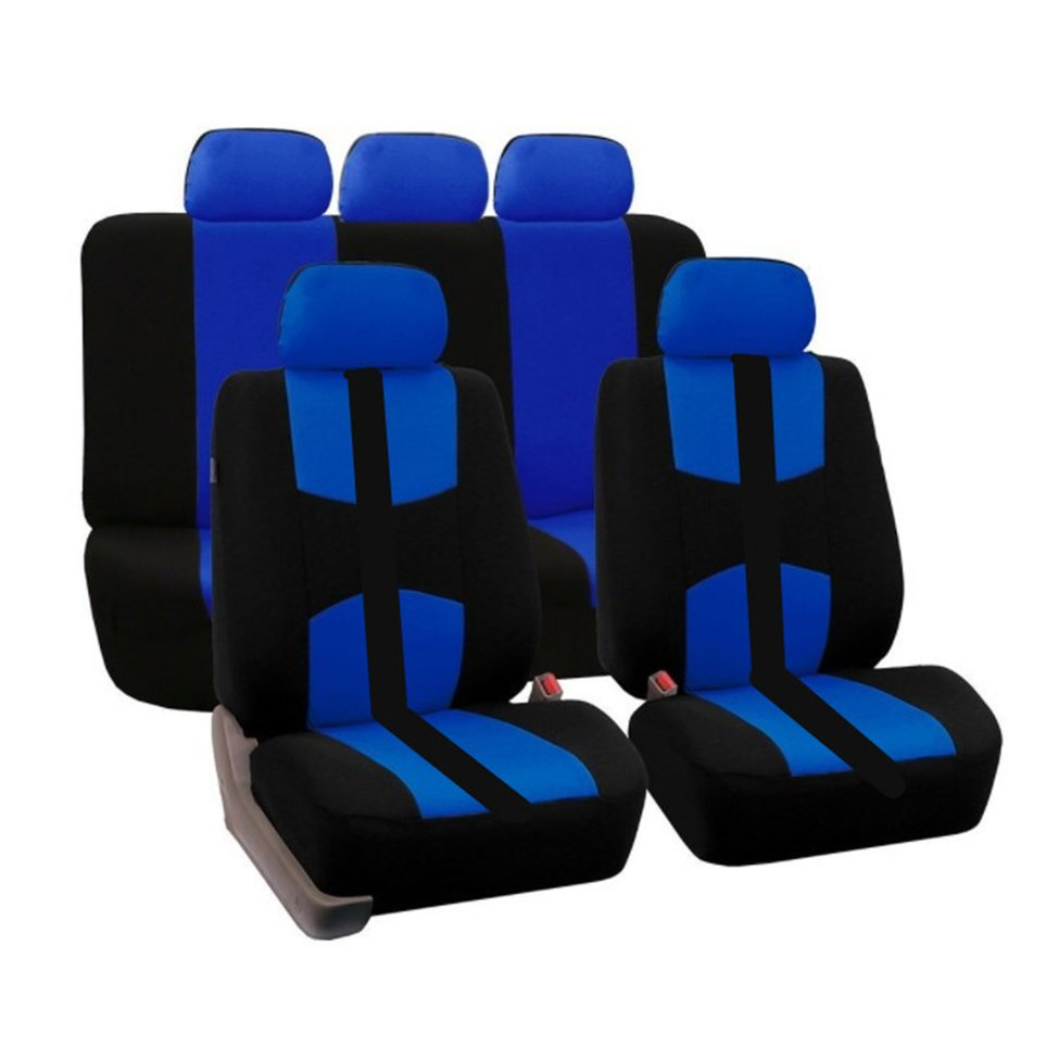New 9pcs/set Car Front&Rear Seat Cover Car Styling Accessories Universal for Five-Seat Cars for All Four Seasons(China)