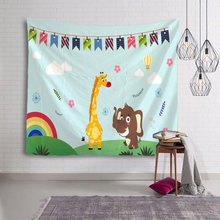 Tapestry Wall Hanging Bedspread Beautilf Concise Cute Animal Print For Baby Child Living Room Free Shipping Large Size(China)
