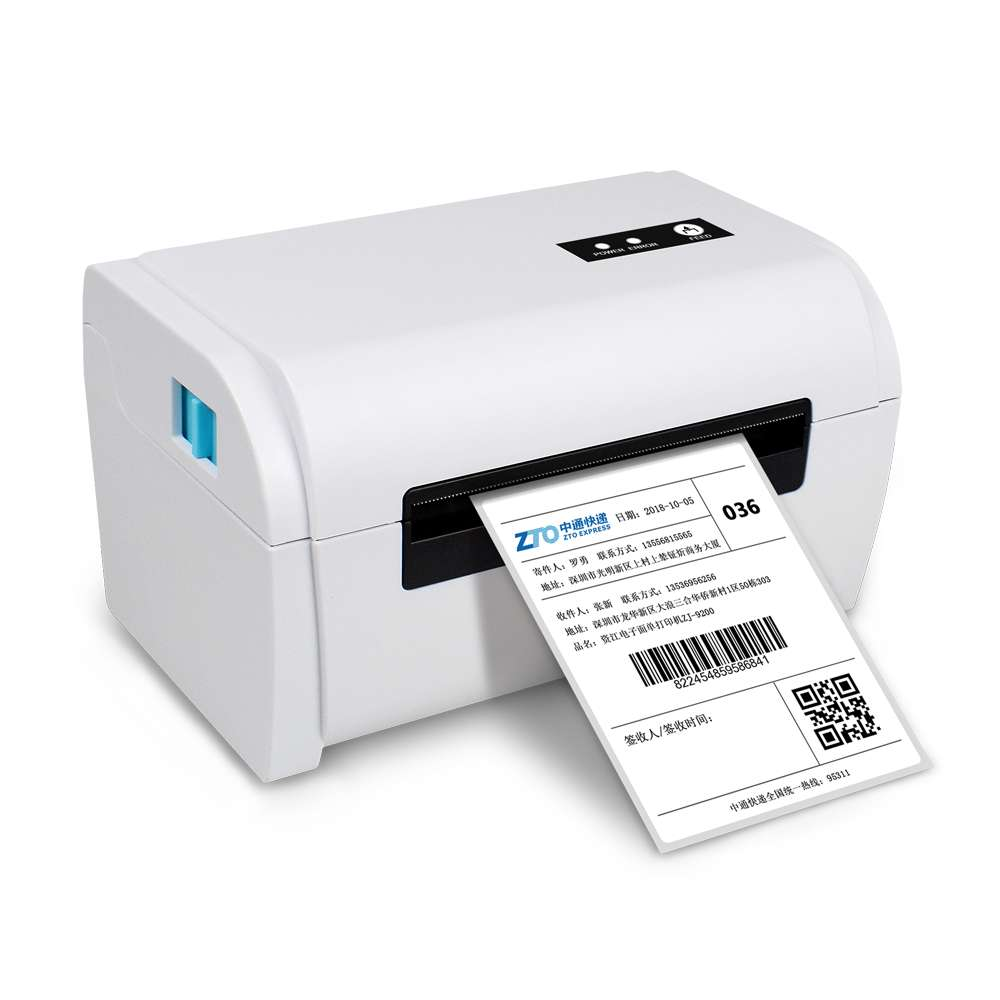 Free Shipping 110mm Thermal Label Printer Shipping Address Thermal Printer Bar Code Printer USB/Bluetooth Auto Peeling A6 Paper