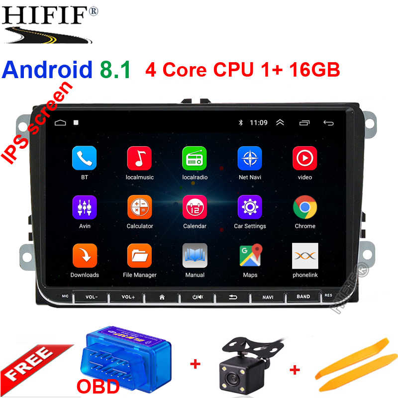 9 inch Android 8.1 car radio gps for Skoda Rapid/Octavia/Yeti/Superb/VW golf 5 6 touran passat B6 jetta polo tiguan