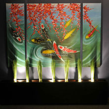 HUGE Canvas Wall Art Contemporary Abstract Oil Painting Koi Fish no frame